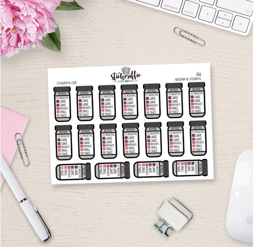 Ketosis / Keto Tracking Planner Stickers  - S144