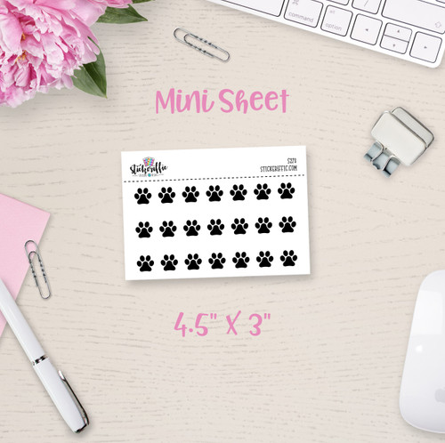 Paw Prints Mini Sticker Sheet - S273