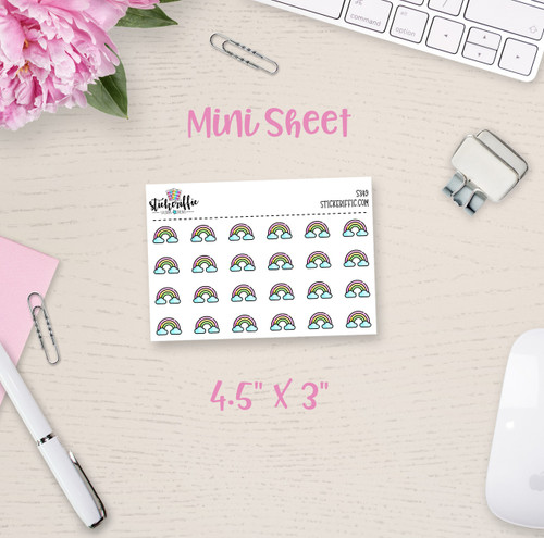 Rainbows Mini Sticker Sheet - S349