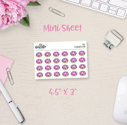 Donuts  Mini Sticker Sheet - S374