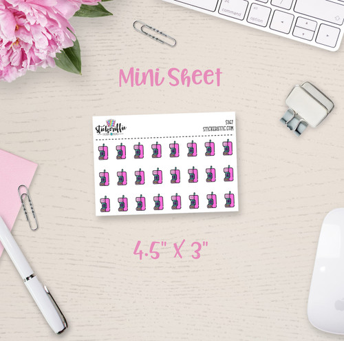 Retro Cell Phones Mini Sticker Sheet - S367