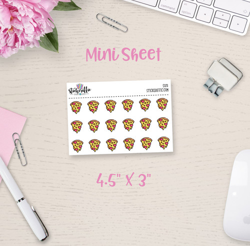 Pizza Slice Mini Sticker Sheet - S373