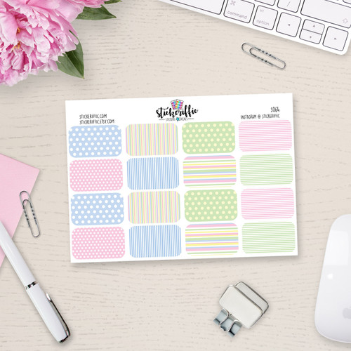 Spring / Easter Inspired Half Box Stickers - S064