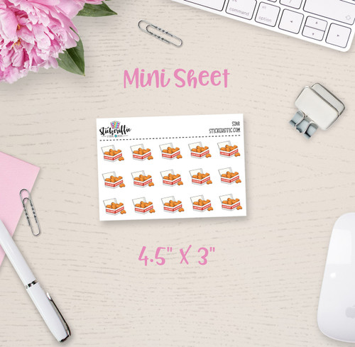 Chicken Nuggets Mini Sticker Sheet - S248