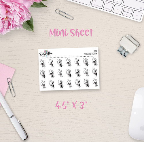 Peeking Phoebe Mini Sticker Sheet - S274