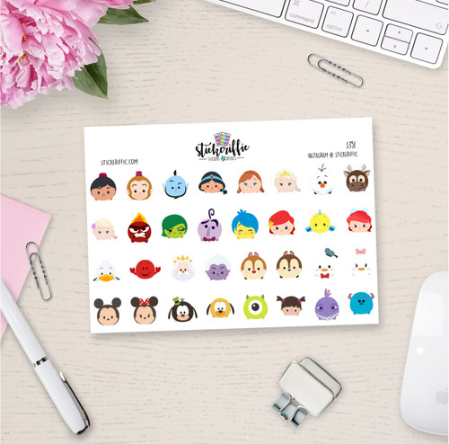 Tsum Tsum Stickers - Set 1 - S351