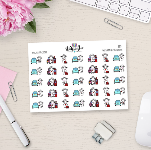 Get Gas / Fill up the Tank - Lucy - Reminder Planner Stickers - S319