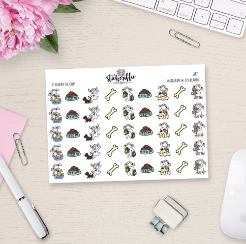 Dog / Puppy Care - Lucy - Reminder Planner Stickers - S187