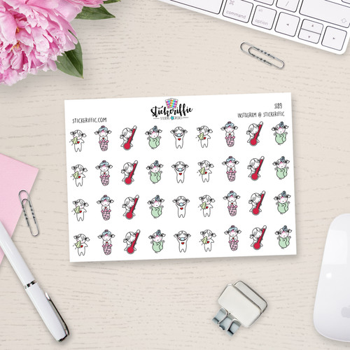 Sick Day - Lucy - Reminder Planner Stickers - S189