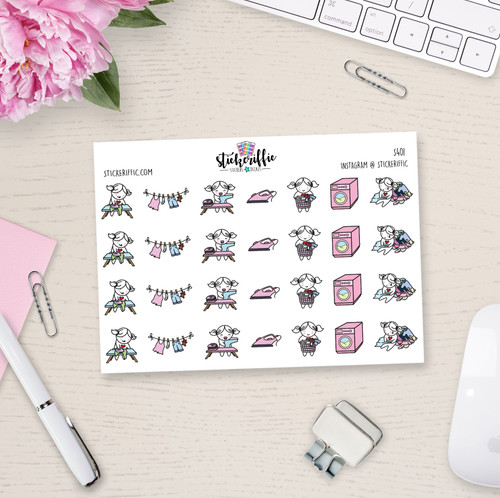 Laundry Day / Iron Clothes - Lucy - Reminder Planner Stickers - S401
