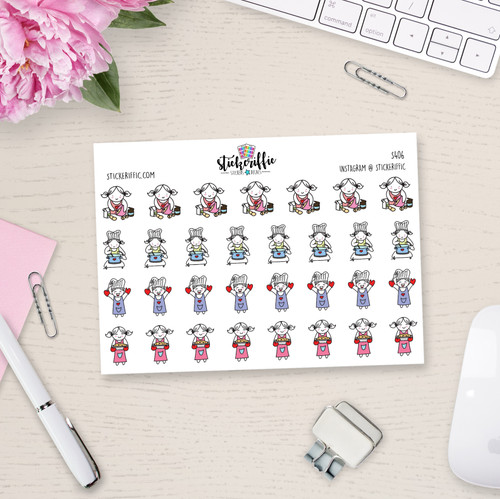 Cooking / Baking / Lucy - Reminder Planner Stickers - S406