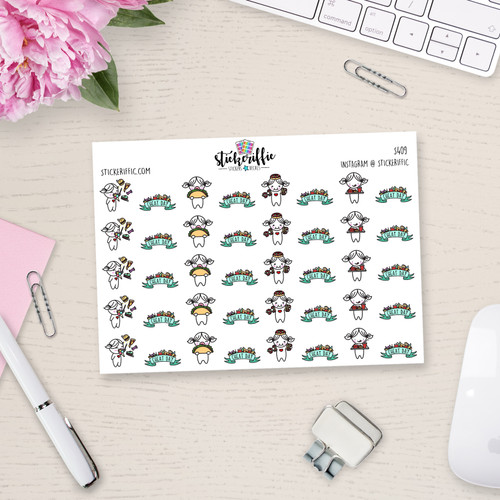 Cheat Day - Lucy Planner Stickers - S409