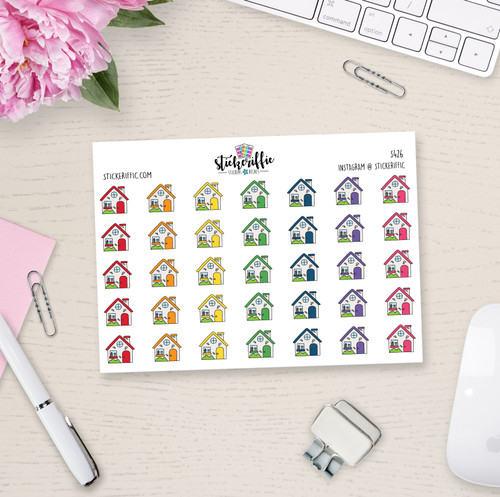 House Planner Stickers - Rainbow - S426