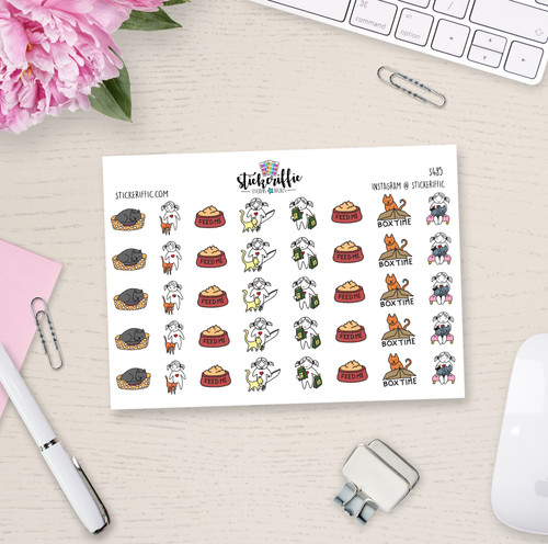 Cat / Kitten Care - Lucy - Reminder Planner Stickers - S485