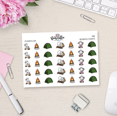 Camping Trip - Lucy - Reminder Planner Stickers - S486