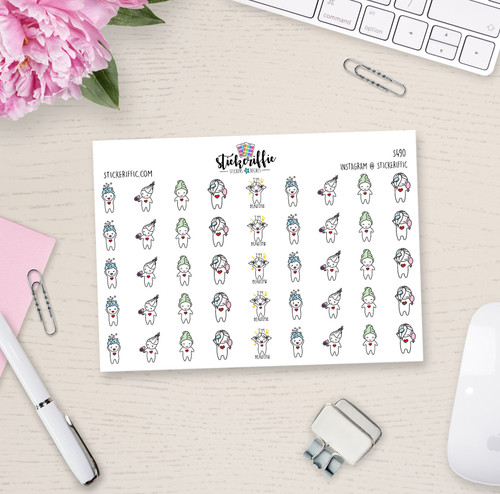 Hair Care - Lucy - Reminder Planner Stickers - S490