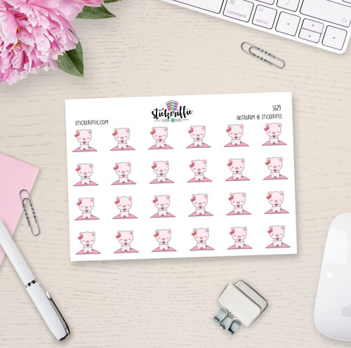 Yoga - Matilda the Pig Planner Stickers - S629