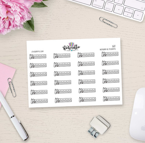 Hydrate - Phoebe Planner Stickers - S637