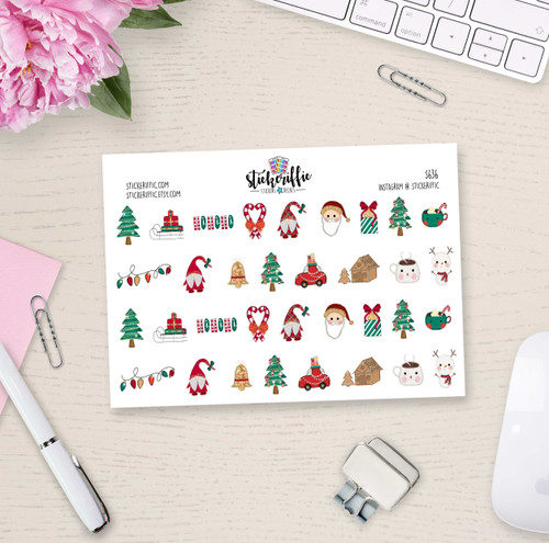 Christmas  Deco Stickers - S636