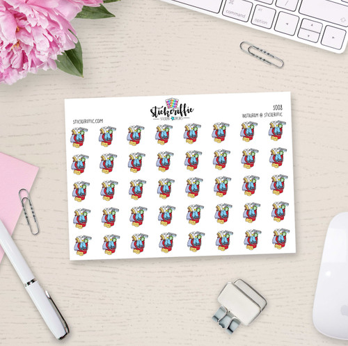 Cleaning Supplies Bucket Stickers  - S008