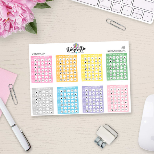 Mood Tracker Sidebar Stickers - S013