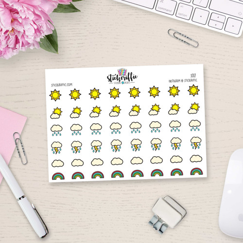 Weather Stickers - S017