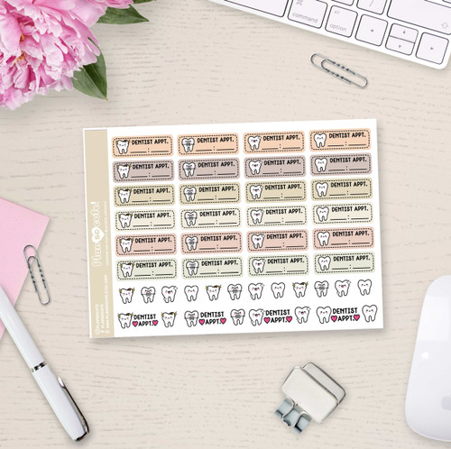 Dentist Appointment Stickers - Plan So Cute - PSC4