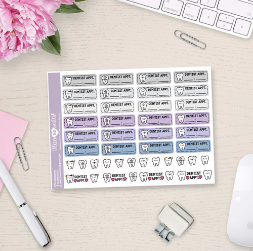 Dentist Appointment Stickers - Plan So Cute - PSC3