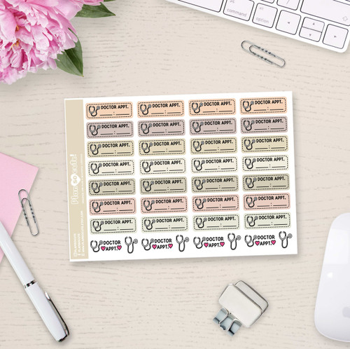 Doctor Appointment Stickers - Plan So Cute - PSC8