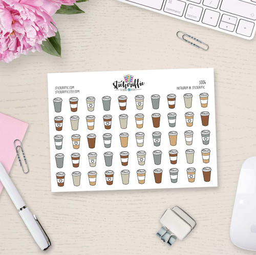 Coffee Cup Stickers - S004