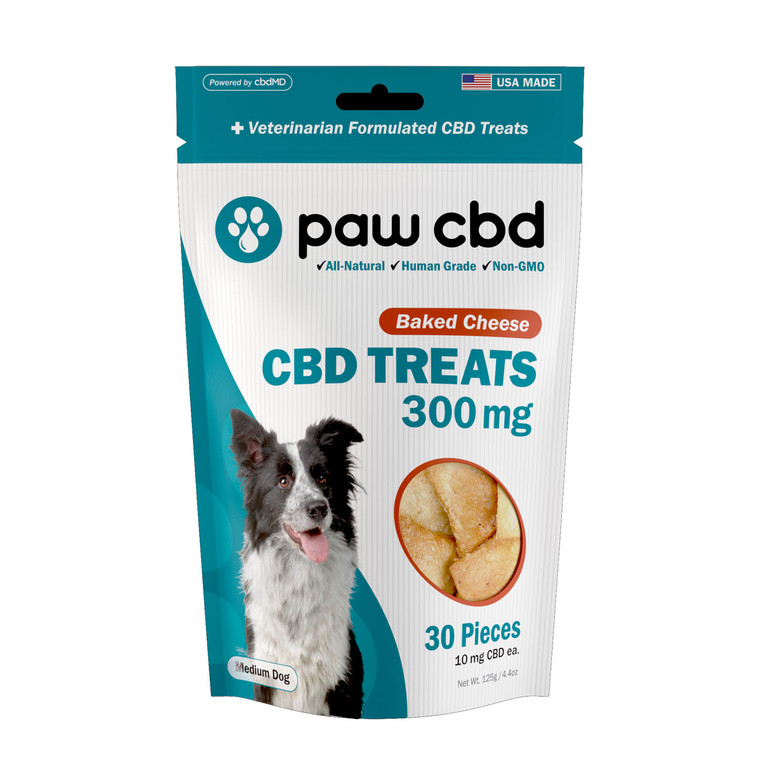 Pet CBD Oil Treats for Dogs, Baked Cheese Flavor - 300mg (30 count)