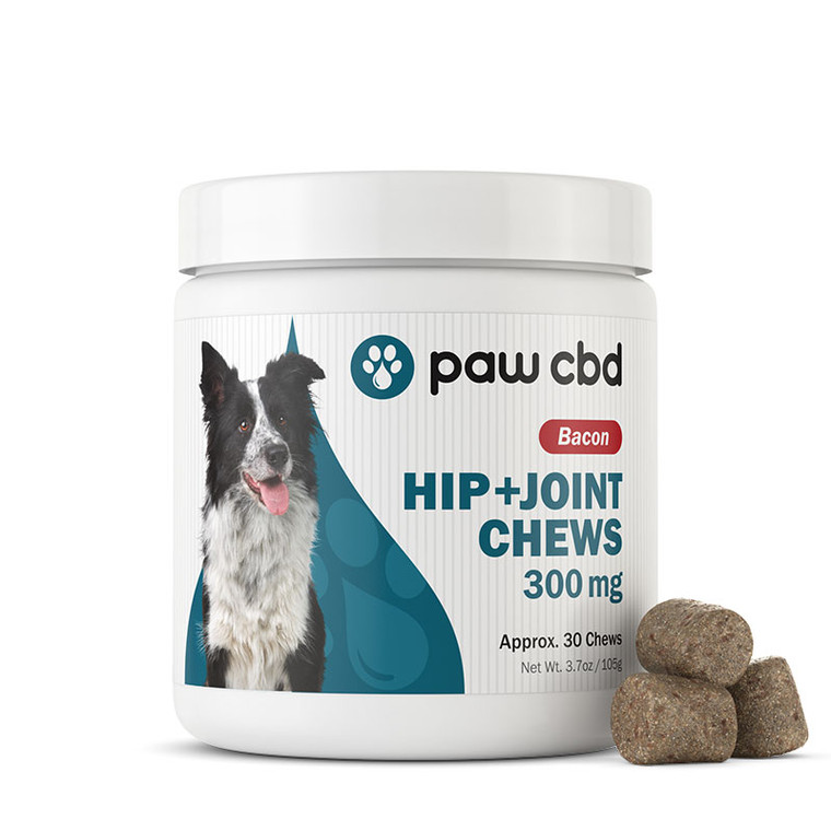Pet CBD Hip & Joint Soft Chews For Dogs, Bacon Flavor - 300mg (30 count)
