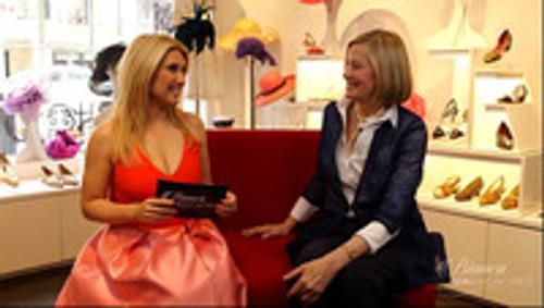 Bianca de la Garza Visits Susan van der Linde Boutique