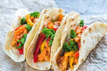 Chicken Tacos W/ Spicy Peach Salsa