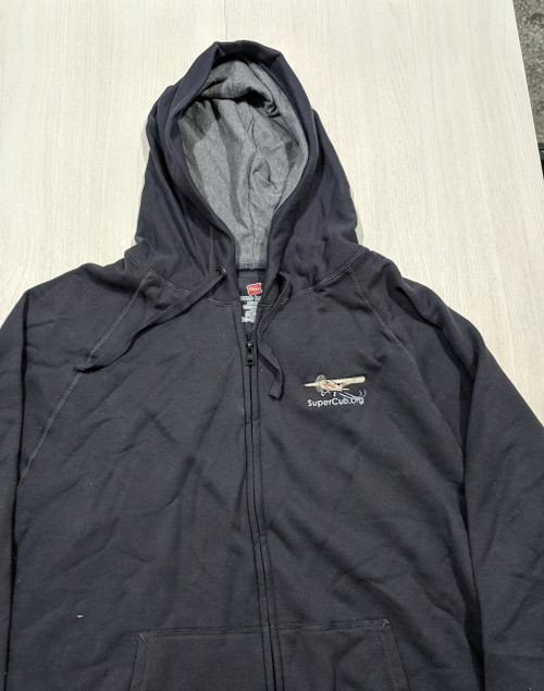 Dark Gray Hoodie With Embroidered SuperCub.Org Logo