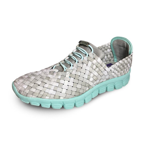 Danielle-A Stone Multi/Turquoise Bottom Woven Sneakers