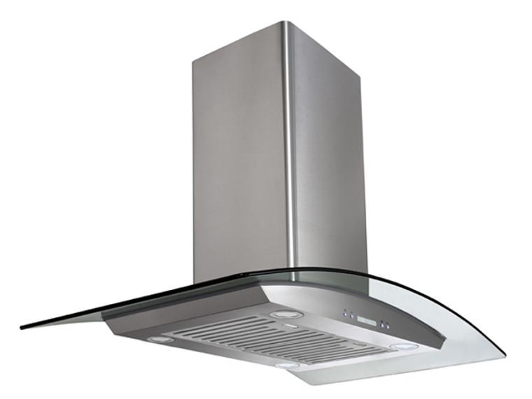 "K1008EB - 36"" Island Kitchen Range Hood (Baffle Filter) - KSTAR"