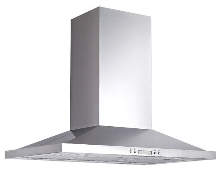"K1023B - 36"" Island Kitchen Range Hood (Baffle Filter) - KSTAR"
