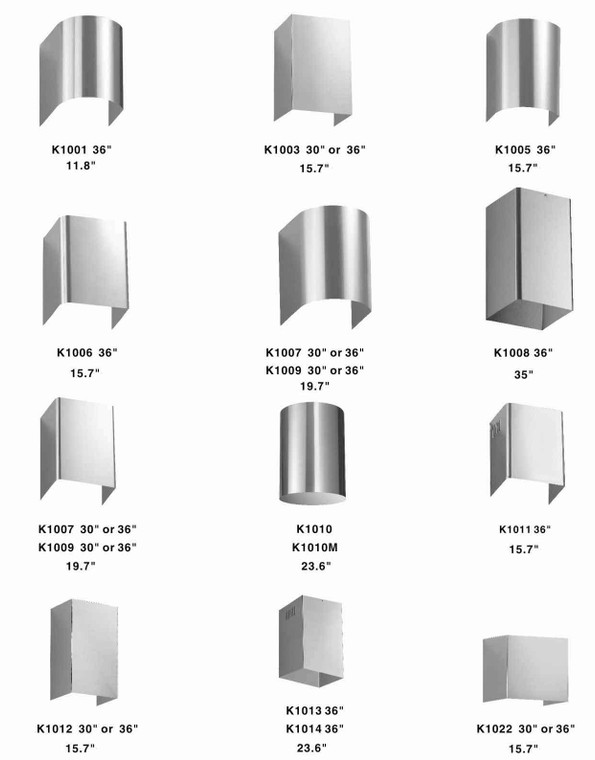 Extension Chimney for Wall Mounted Hoods - KSTAR