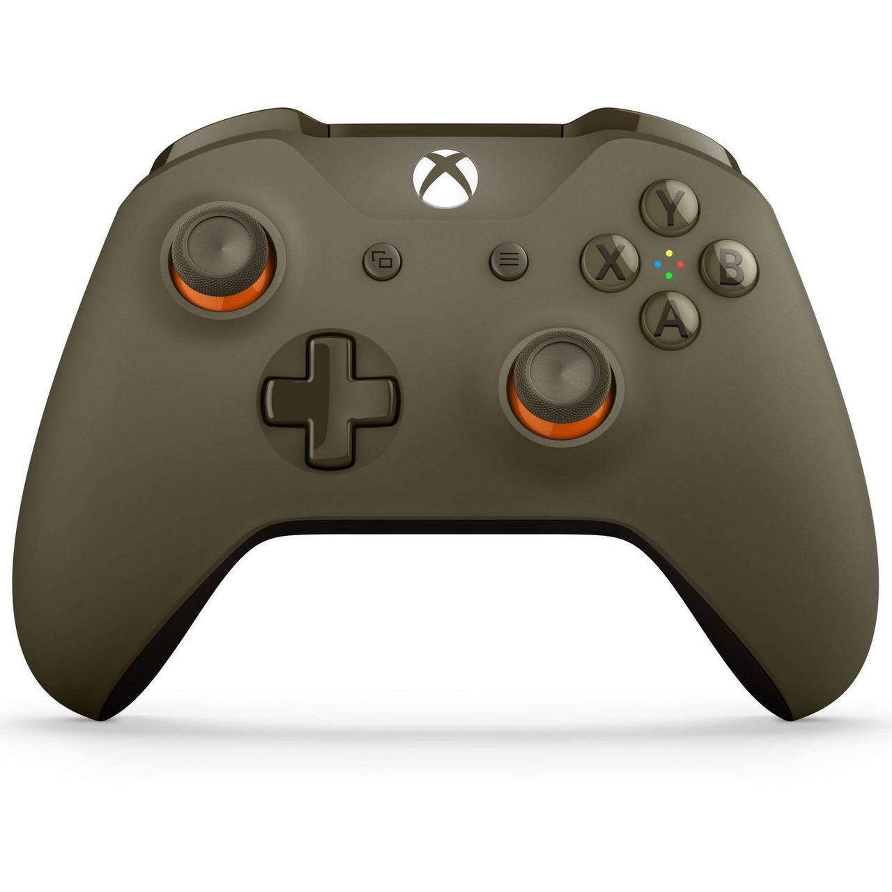 Xbox ONE S WL3-00035 Wireless Bluetooth Controller (Green & Orange, 1708)