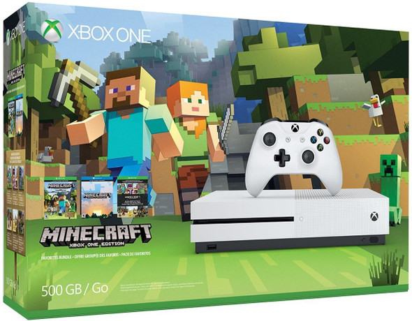 xbox one s 500gb minecraft system bundle