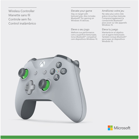 Xbox one wireless Bluetooth controller grey/green 1708