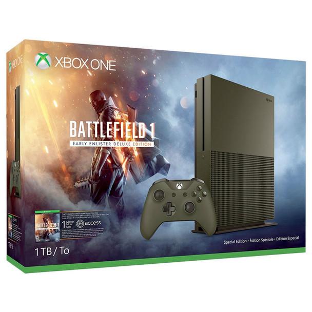 Xbox ONE S 1TB Battlefield 1 Special Edition Bundle