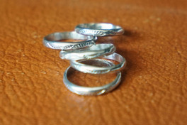 Sterling Silver Stamped Rings
