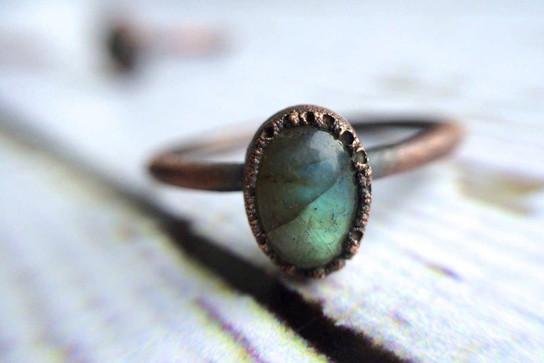 Labradorite Stacker Ring