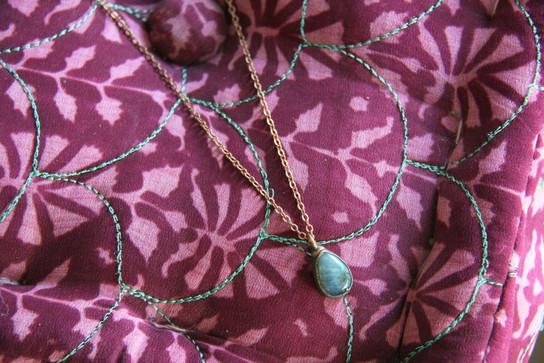 Blue Labradorite Teardrop Necklace