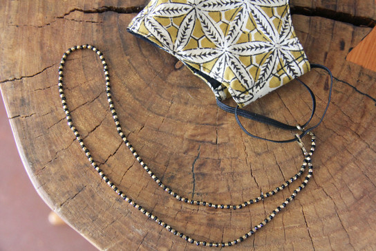 Beaded Mask Necklace Chain