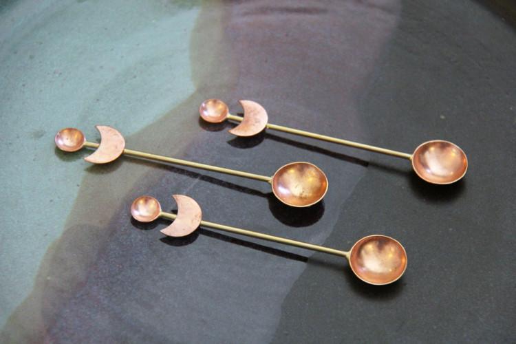 Crescent Moon Herb Spoon