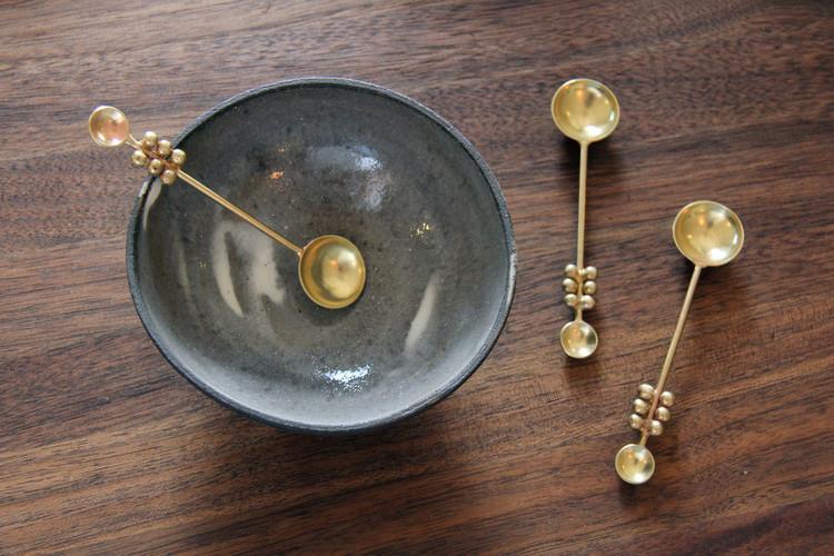 Bronze Drop Herb Spoon