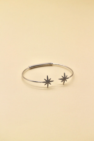 Celestial Platinum Plated Bangle